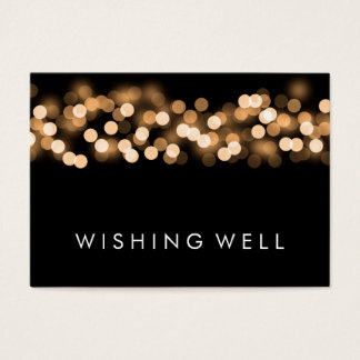 Wishing Well Gold Hollywood Glam Business Card
