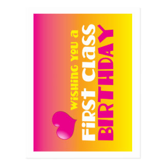 Wishing you a First class Birthday! Postcard