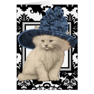 Wishing You a Purrfectly Delightful BD Vintage Cat Greeting Cards