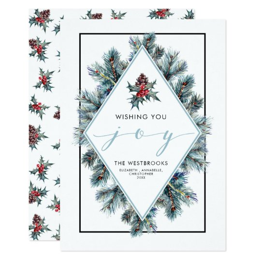 Wishing You Joy Holiday Card