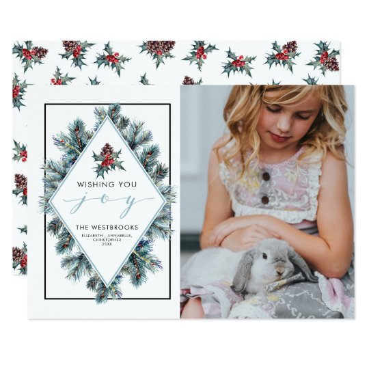 Wishing You Joy Holiday Photo Card