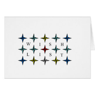 Wishlist, Your Dreams Come True! Greeting Card