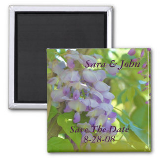 Wisteria Flower Save The Date Wedding Magnet