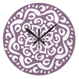 Wisteria Large Clock