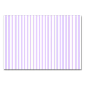Wisteria Lilac Lavender Orchid & White Stripe Table Cards