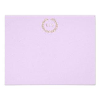 Wisteria Lilac Pastel Lavender Orchid Wreath/Sprig 11 Cm X 14 Cm Invitation Card