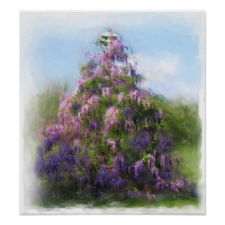 Wisteria on Pine Poster