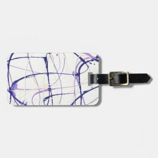 Wisteria Purple Paint Splatter Luggage Tag