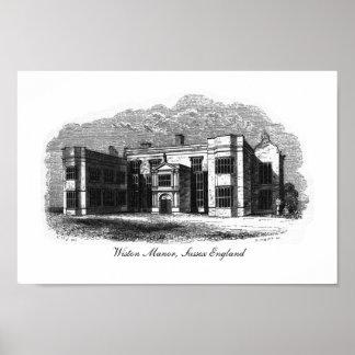 Wiston Manor, Sussex England Poster