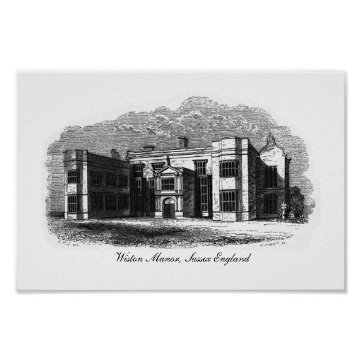 Wiston Manor, Sussex England Print