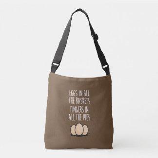 Wit, wisdom and sarcasm crossbody bag