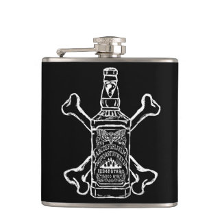 Witch board whiskey flask