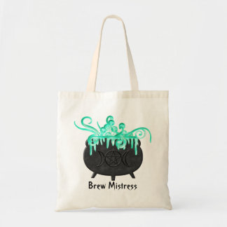 Witch Brew Pagan Magick Potion Cauldron Tote Bag