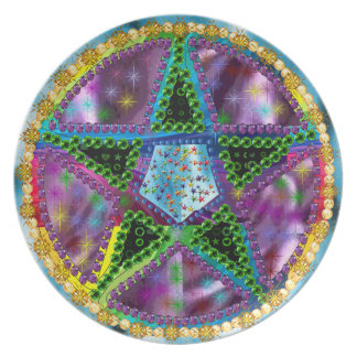 Witch Pentagram Party Plates