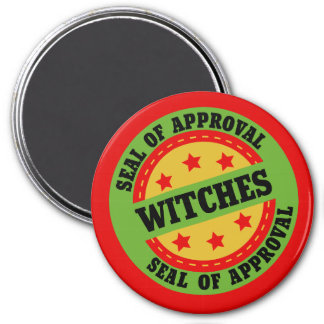 Witch Seal of Approval 7.5 Cm Round Magnet