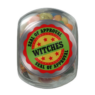 Witch Seal of Approval Jelly Belly Candy Jar