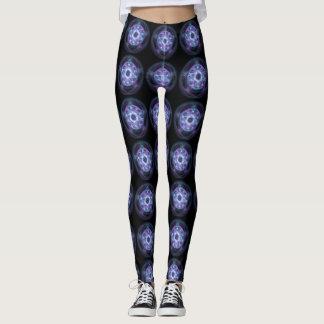 Witchcraft Blue Fire Pentagram Leggings