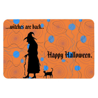 Witches are Back rectangular magnet