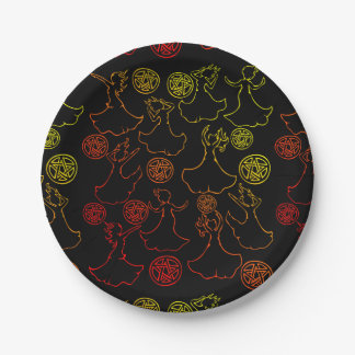 Witches Coven Paper Plate