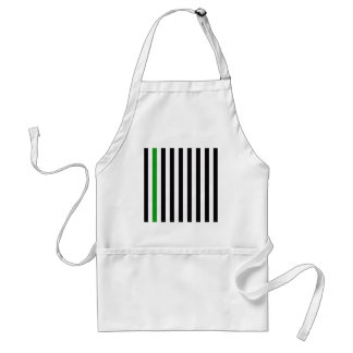 With A Green Stripe Standard Apron