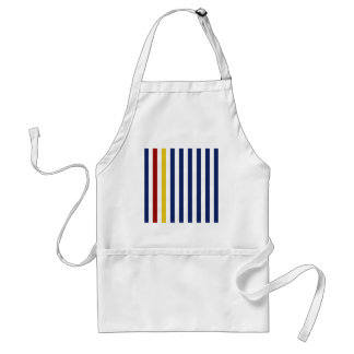 With A Yellow and Red Stripe Standard Apron