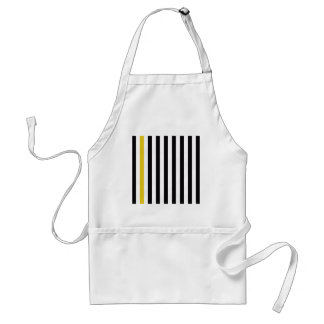 With A Yellow Stripe Standard Apron