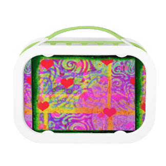 With Hearts Pink Art Lunchbox