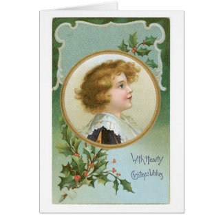 With Hearty Christmas Wishes Greeting Card