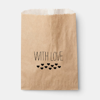 """WITH LOVE"" FAVOUR BAGS"