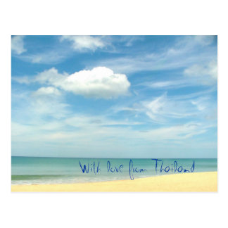With love from Thailand Postcard