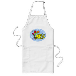 With Love Sparky Fish cute funny comic Gift Long Apron