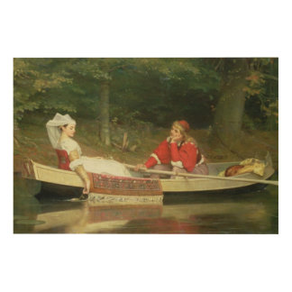 With The River, 1869 Wood Wall Art