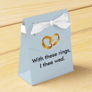 With these rings I thee wed Favour Box