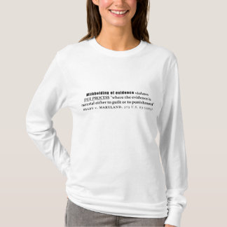 Withholding of Evidence Brady v Maryland Case law T-Shirt