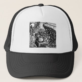 """Without Bread, Land, or Money, the Laborer Flees Trucker Hat"