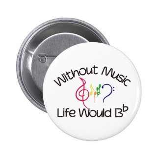 Without Music 6 Cm Round Badge