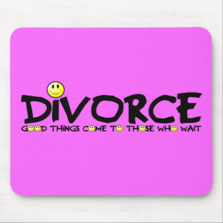 Witty divorce slogan mouse pad