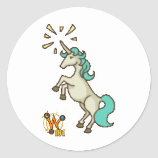 Wizard101 Unicorn Doodle Sticker