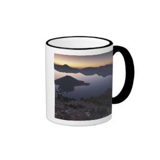 Wizard Island at dawn, Crater Lake National Park Ringer Mug