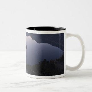 Wizard Island at dawn, Crater Lake National Park Two-Tone Coffee Mug