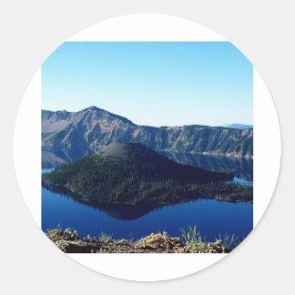 Wizard Island Classic Round Sticker