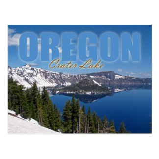 Wizard Island Crater Lake National Park Oregon Post Card