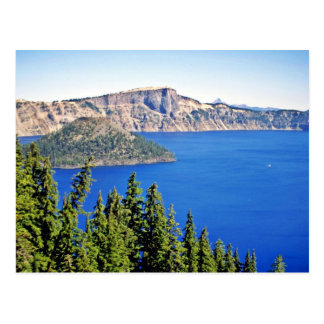 Wizard Island - Crater Lake National Park Postcard