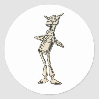 Wizard of Oz Tin Man Classic Round Sticker