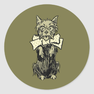 Wizard of Oz Toto Classic Round Sticker
