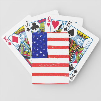 WJ USA flag Bicycle Playing Cards