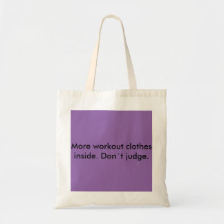Woekout clothes shopping  tote bag