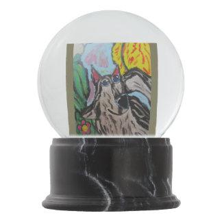 wolf art 2 snow globes