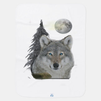 Wolf at Night products Baby Blanket