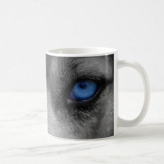 Wolf Blue Eyes Gothic Fantasy Coffee Mug